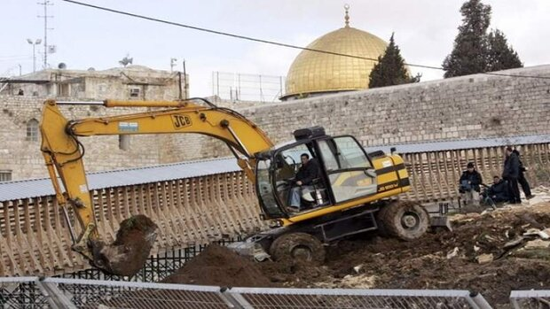 الخارجية الفلسطينية تطالب بتدخل دولي لوقف الحفريات الإسرائيلية في الأقصى
