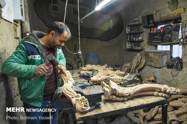 Samqavor village Iran's capital of wood carving