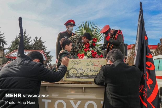 مراسم استقبال از شهدای گمنام دفاع مقدس در تبریز