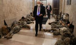 وضعیت عجیب سربازهای آمریکایی در ساختمان کنگره