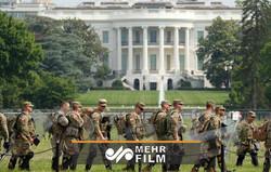 واشنگتن دی سی به منطقهای نظامی تبدیل شد