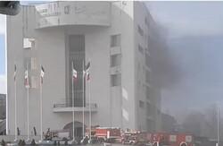 وقوع حریق  در ساختمان مرکزی شهرداری/ آتش مهار شد