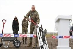 Aliyev, Fuzuli'de yeni havalimanının temelini attı