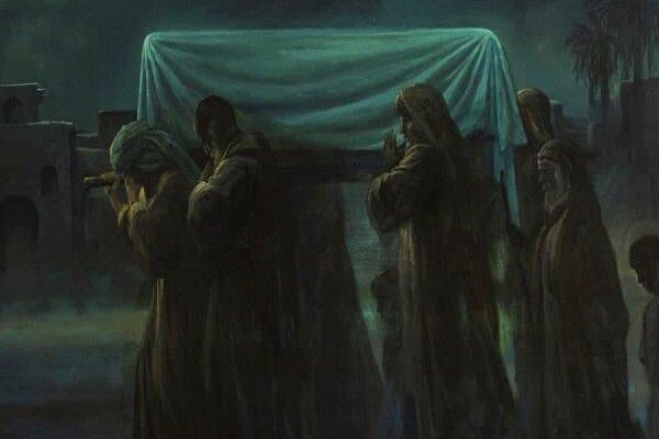 صحنه جانسوز تشییع غریبانه حضرت زهرا سلام الله علیها