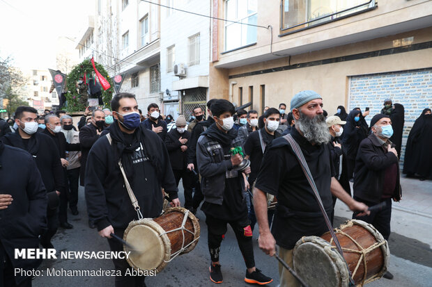 مراسم تشییع پیکر دو شهید گمنام در وحیدیه تهران