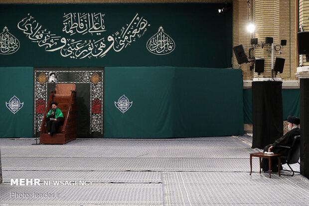 مراسم عزاداری شب شهادت حضرت فاطمهزهرا سلاماللهعلیها در حسینیه امام خمینی(ره)
