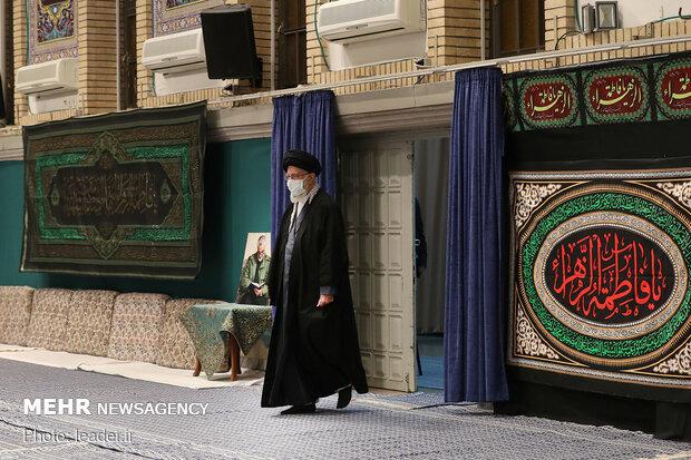 مراسم عزاداری شب شهادت حضرت زهرا (س) در حسینیه امام خمینی(ره)