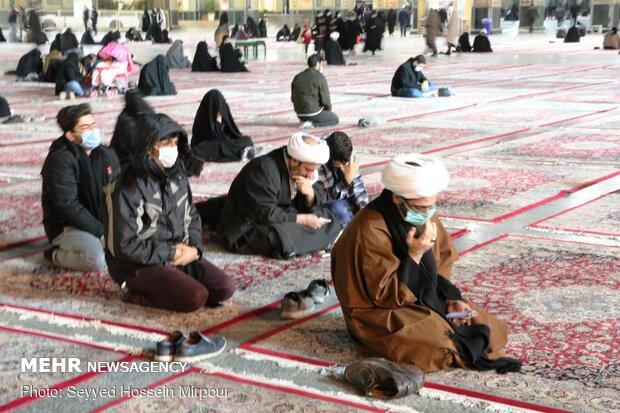 حال و هوای حرم مطهر رضوی در شب شهادت حضرت Hazrat Fatemeh (PBUH) mourning ceremony observed in Mashhad(س)