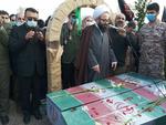 پیکر مطهر ۲ شهید گمنام در پرند تشییع و به خاک سپرده شد