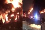 حريق ضخم يلتهم مستودعات قرب العاصمة السعودية الرياض