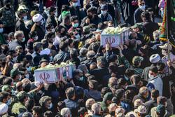 مراسم تشییع و تدفین شهدای گمنام در خراسان جنوبی