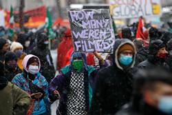 فرانس میں سکیورٹی بل اور کورونا پابندیوں کے خلاف مظاہرہ