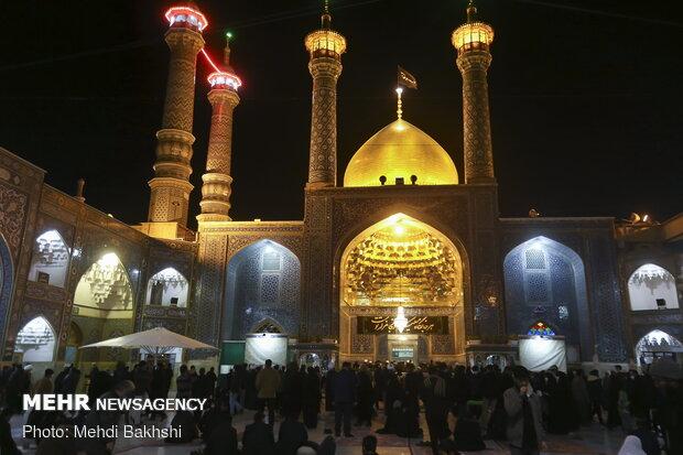 عزاداری شب شهادت Qom hosts mourners of Hazrat Fatameh (PBUH) زهرا