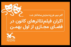 اکران فیلمتئاترهای کانون پرورش فکری در فضای مجازی از اول بهمن