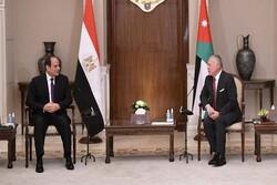 رئیس جمهور مصر و شاه اردن دیدار کردند