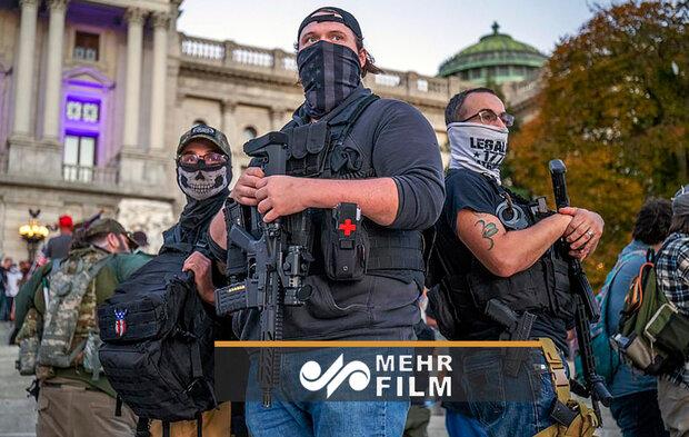 ABD'de silahlı Trump taraftarları sokaklarda