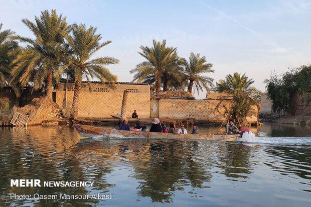 Shadegan wetland in Sarakhiyeh village