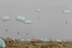 Airborne forces attack enemy positions on Makran shores
