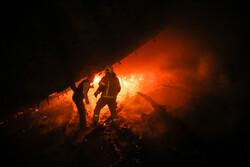 مهار آتش سوزی در خیابان شوش