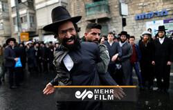 Siyonist polislerle Ultra-Ortodokslar arasında arbede