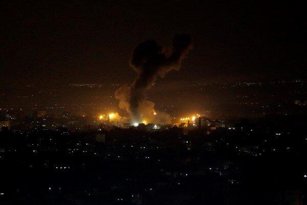 حمله هوایی رژیم صهیونیستی به اهداف نظامی در نوار غزه