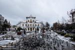 پیاده راه فرهنگی رشت بعد از بارش برف