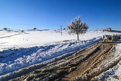 بارش برف راه ۶۰۰ روستای لرستان را مسدود کرد/ ادارات بروجرد تعطیل شد