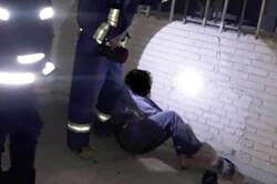 دزد بدشانس در کانال کولر گیر افتاد