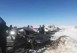 حادثه رانندگی در محور مراغه به هشترود ۳ کشته و ۵ زخمی درپی داشت