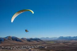 Paragliding over Iran's Zagros Mountains