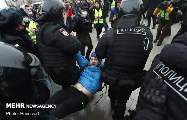 تظاهرات حامیان ناوالنی در چندین شهر روسیه