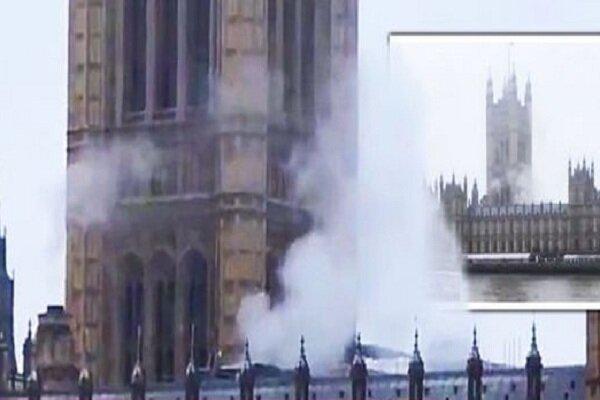 آژیر خطر در پارلمان انگلیس/ دود از ویستمینستر به هوا برخاست