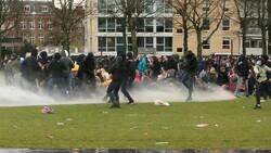 Hollanda'daki protestolardan görüntüler