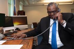 وزرای دفاع آمریکا و روسیه تلفنی گفتگو کردند