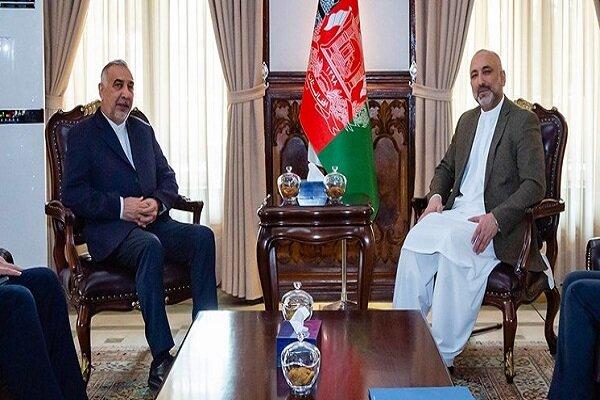 Zarif's envoy holds talk with Atmar, Abdullah on Afghanistan