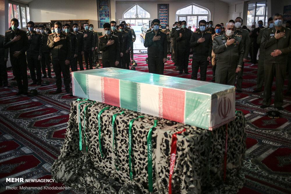مراسم وداع با پیکر شهید گمنام دفاع مقدس