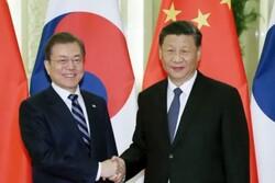 رایزنی رؤسای جمهور چین و کره جنوبی با موضوع خلع سلاح پیونگ یانگ