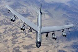 سومین پرواز بمبافکنهای «بی -۵۲» آمریکا بر فراز خاورمیانه