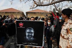 Funeral of prominent footballer Mehrdad Minavand