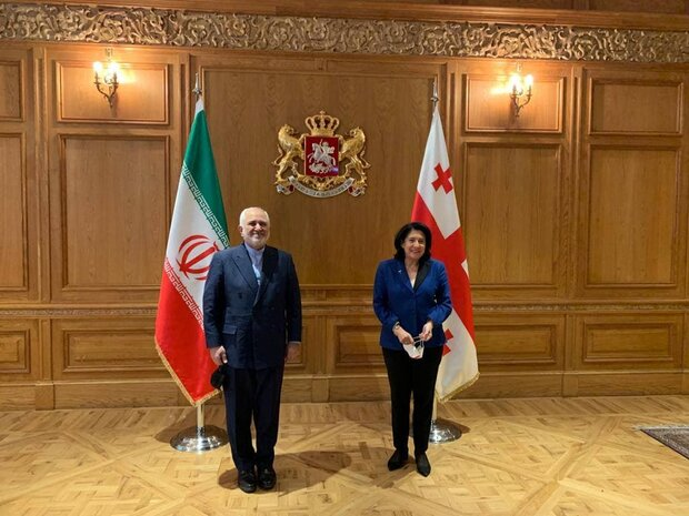 Iranian FM meets with Georgian president