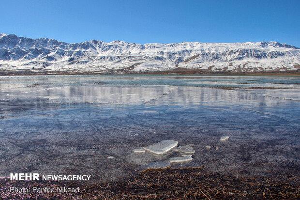 Choghakhor Wetland during winter