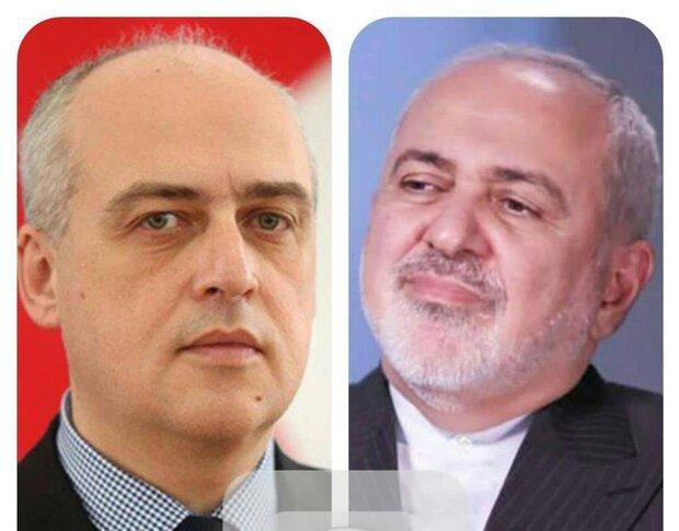 Zarif, Georgian counterpart hold phone talk