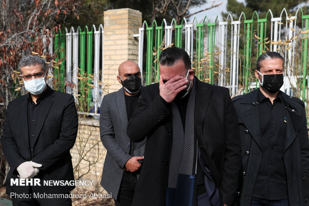 Funeral of prominent footballer