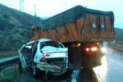 تصادف در زنجان  ۲ کشته بر جای گذاشت