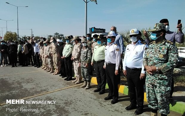 Funeral of maritime border guard