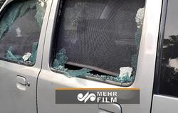 Siyonist Rejim'in Yeni Delhi Büyükelçiliği yakınındaki patlamadan görüntüler
