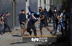 درگیری پلیس شیلی با معترضان در سانتیاگو