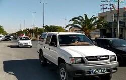 رژه خودرویی و موتوری ۱۲ بهمن در لامرد