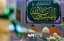 حضرت زہرا سلام اللہ علیھا کی ولادت باسعادت کی مناسبت سے حرم علوی کا شاندارمنظر