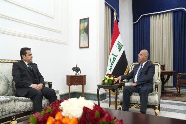 «برهم صالح» بر لزوم برطرف ساختن شکافهای امنیتی تأکید کرد